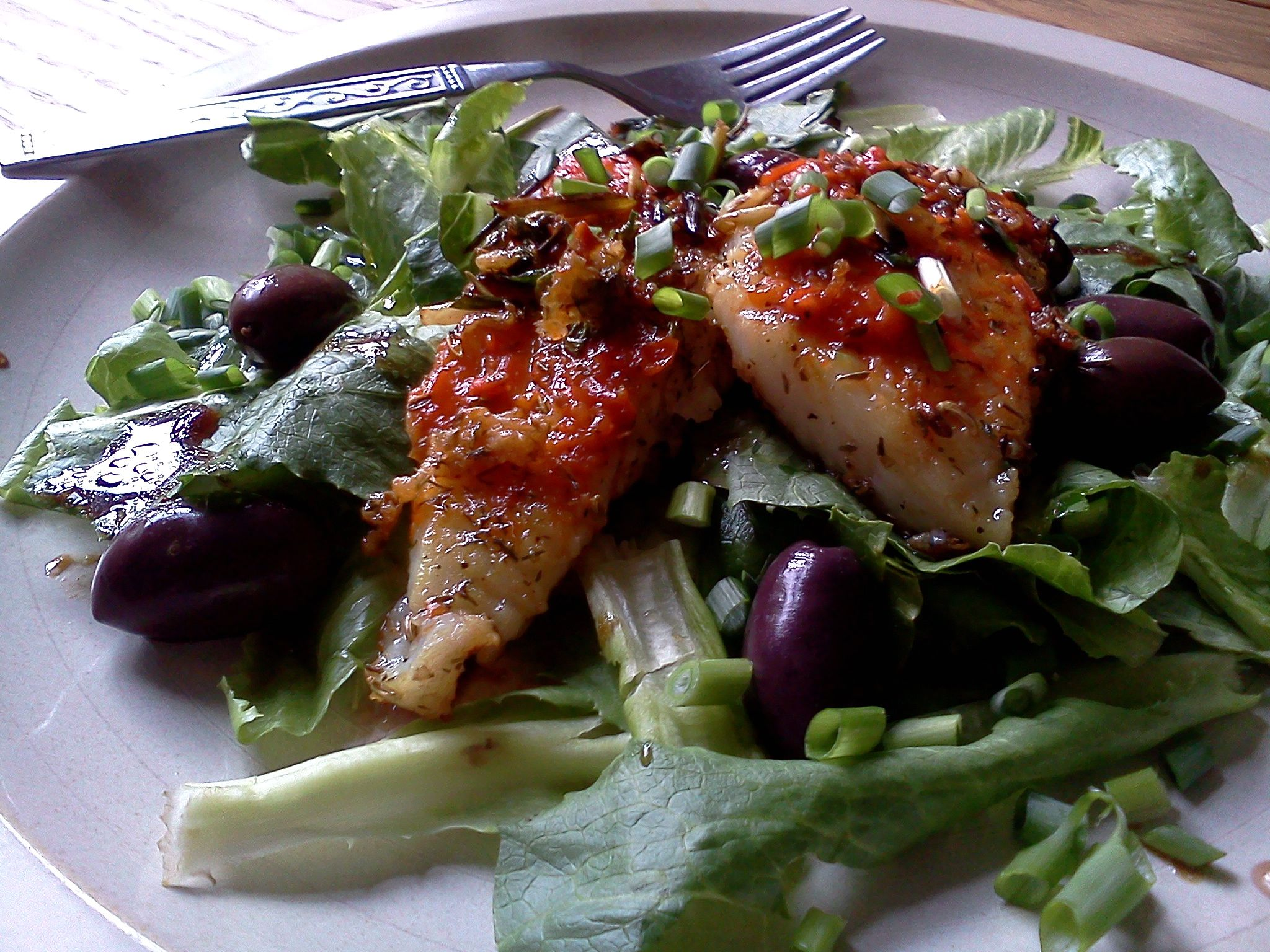 Mediterranean white fish salad kitchen convivial for White fish salad
