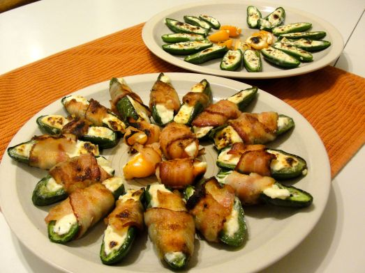 Habanero and Jalapeno Poppers: bacon or vegetarian with epazote.