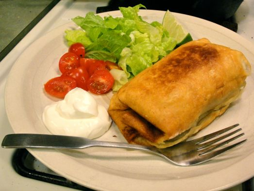 Black Bean Chimichanga
