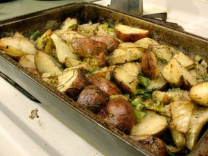Oven roasted fennel and red potatoes