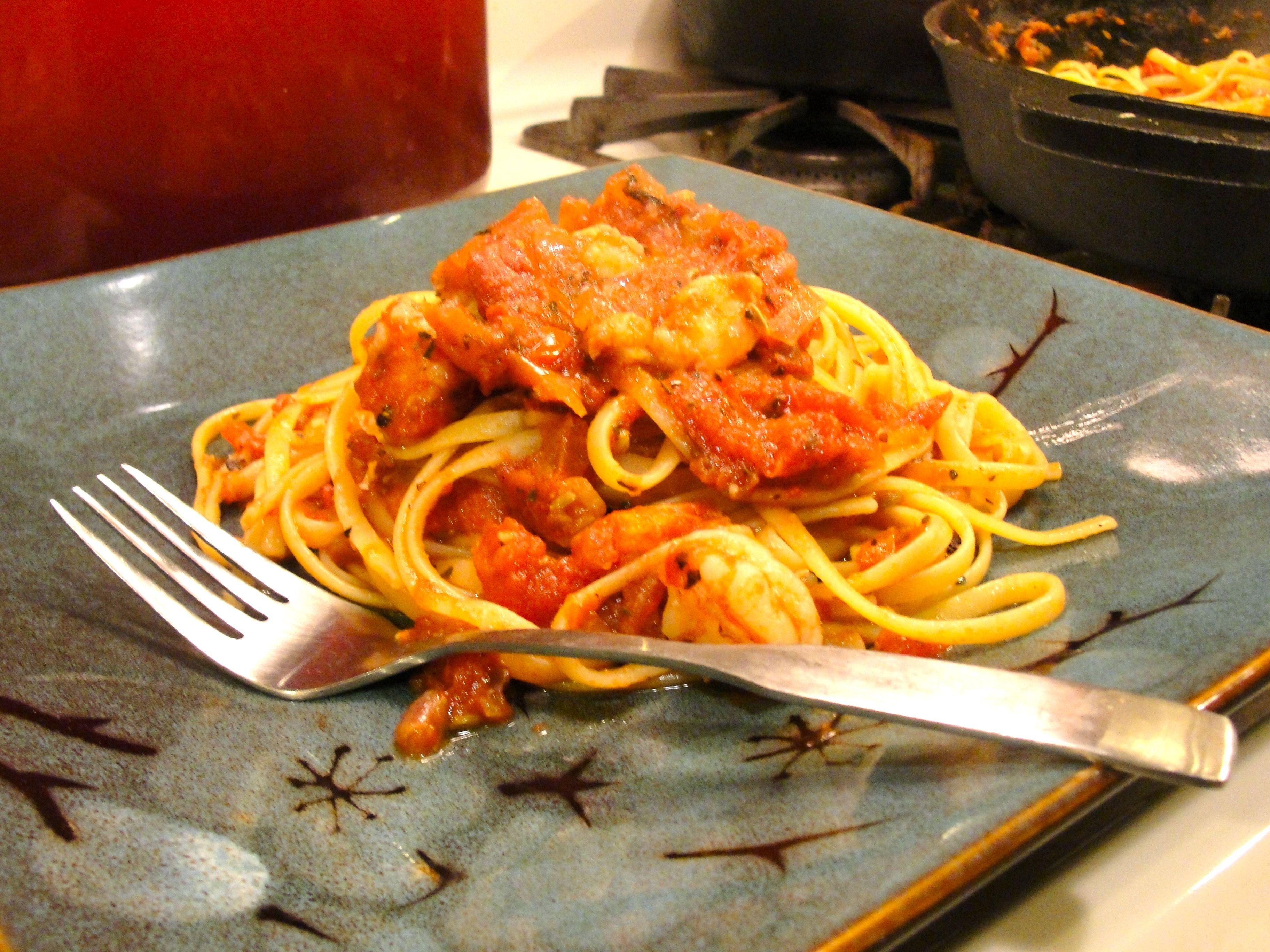 Linguini And Shrimp Fra Diavolo Recipe — Dishmaps