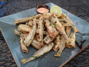 Fried smelts.