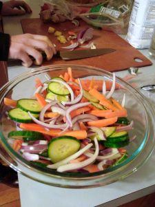 Vegetables for pickling.