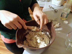 Prepare dough for steamed bao.