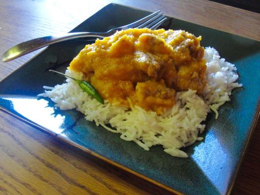 Wak Gominda with basmati rice.